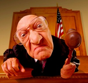 ugly judgmental judge looking down at you
